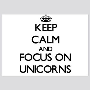 Keep Calm by focusing on Unicorns Invitations