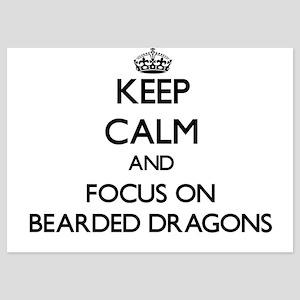Keep Calm by focusing on Bearded Drago Invitations