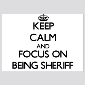 Keep Calm by focusing on Being Sheriff Invitations