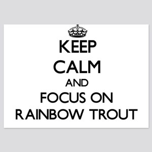 Keep Calm by focusing on Rainbow Trout Invitations