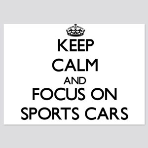 Keep Calm by focusing on Sports Cars Invitations