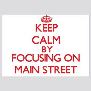 Keep Calm by focusing on Main Street Invitations