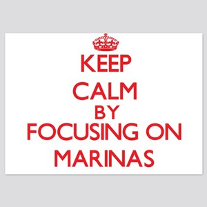 Keep Calm by focusing on Marinas Invitations