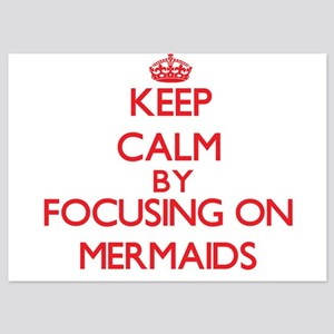 Keep Calm by focusing on Mermaids Invitations