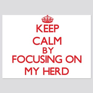 Keep Calm by focusing on My Herd Invitations