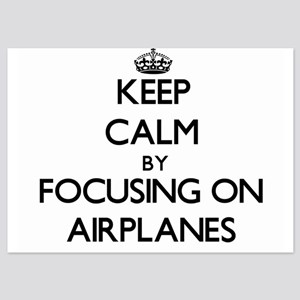 Keep Calm by focusing on Airplanes Invitations