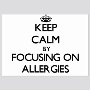 Keep Calm by focusing on Allergies Invitations