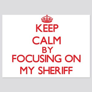 Keep Calm by focusing on My Sheriff Invitations