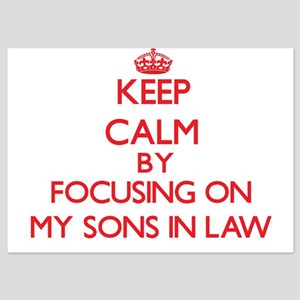 Keep Calm by focusing on My Sons-In-La Invitations