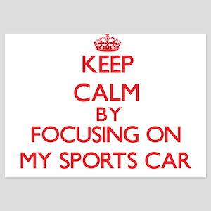 Keep Calm by focusing on My Sports Car Invitations