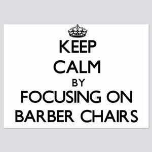 Keep Calm by focusing on Barber Chairs Invitations