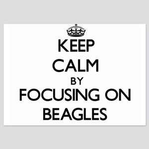 Keep Calm by focusing on Beagles Invitations