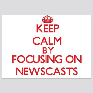Keep Calm by focusing on Newscasts Invitations