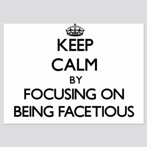Keep Calm by focusing on Being Facetio Invitations