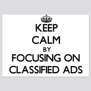 Keep Calm by focusing on Classified Ad Invitations