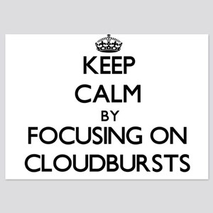 Keep Calm by focusing on Cloudbursts Invitations