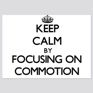 Keep Calm by focusing on Commotion Invitations