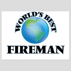 World's Best Fireman Invitations