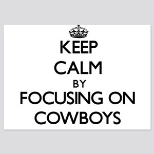 Keep Calm by focusing on Cowboys Invitations