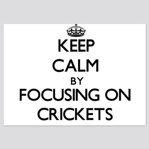 Keep Calm by focusing on Crickets Invitations