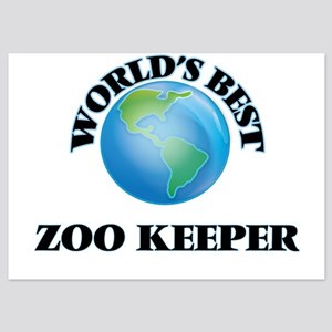 World's Best Zoo Keeper Invitations