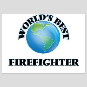 World's Best Firefighter Invitations