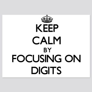 Keep Calm by focusing on Digits Invitations