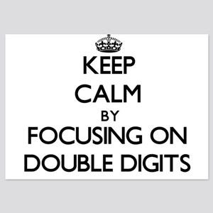 Keep Calm by focusing on Double Digits Invitations