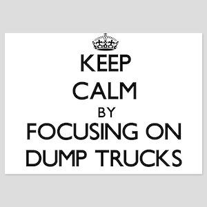Keep Calm by focusing on Dump Trucks Invitations
