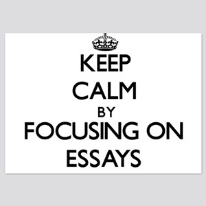 Keep Calm by focusing on ESSAYS Invitations