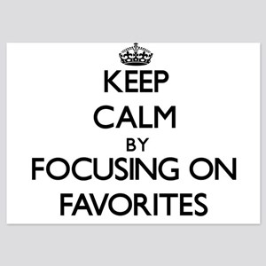 Keep Calm by focusing on Favorites Invitations