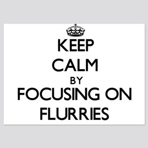 Keep Calm by focusing on Flurries Invitations