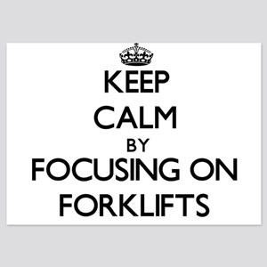 Keep Calm by focusing on Forklifts Invitations