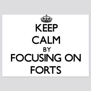 Keep Calm by focusing on Forts Invitations