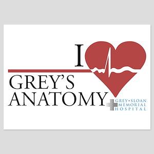 I Heart Grey's Anatomy 5x7 Flat Cards