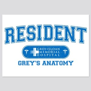 Grey's Anatomy Resident 5x7 Flat Cards