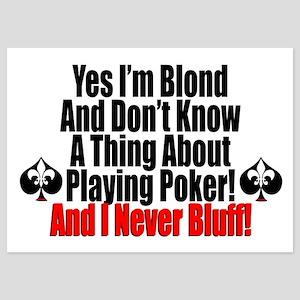 Blond Poker Players Invitations