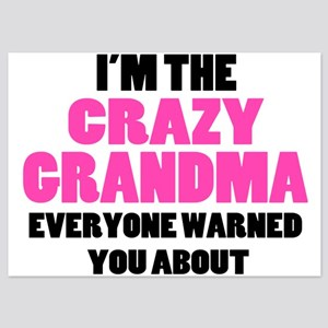 Crazy Grandma You Were Warned About 5x7 Flat Cards