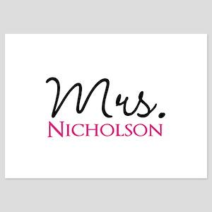 Customizable Name Mrs 5x7 Flat Cards
