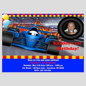 Race Car Birthday Invitation 5x7 Flat Cards