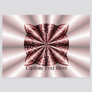 Red Celtic Knot Customized 5x7 Flat Cards