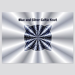 Blue Celtic Knot Customizable 5x7 Flat Cards