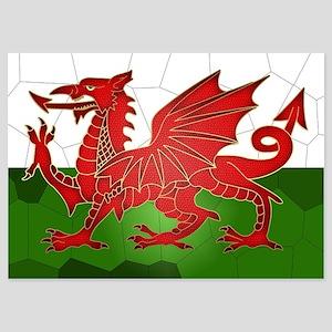 Welsh Flag In Mosaic Design, 5x7 Flat Invitations