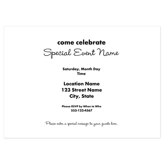 Party Invite Inside Message