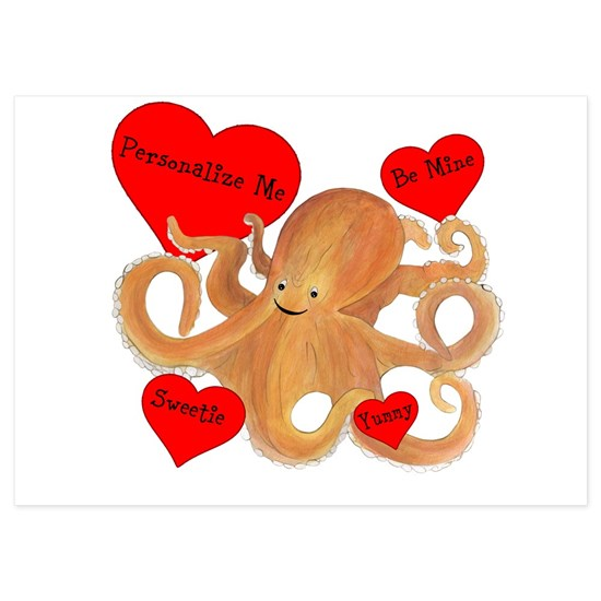 Personalized Octopus Valentine