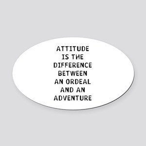 Attitude Adventure Oval Car Magnet