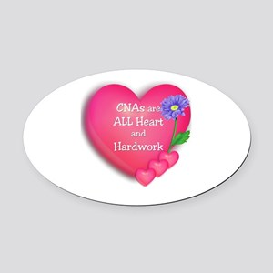 CNA Hearts Oval Car Magnet
