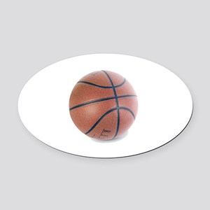Simply Basketball Oval Car Magnet