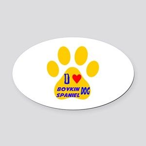 I Love Boykin Spaniel Dog Oval Car Magnet