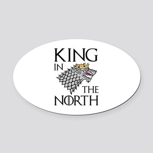 King In The North Oval Car Magnet
